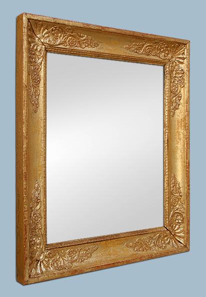 Miroir ancien d 39 poque restauration bois dor d cor palmettes for Restauration miroir ancien