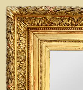 Cadre miroir ancien doré à l\'or