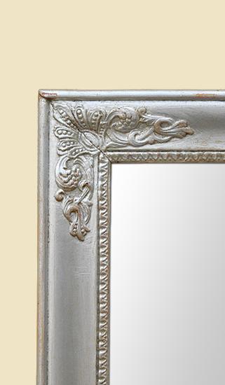 Miroir ancien style restauration argent patin for Restauration miroir ancien