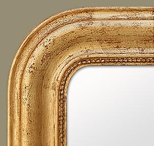 miroir louis philippe bois dor. Black Bedroom Furniture Sets. Home Design Ideas