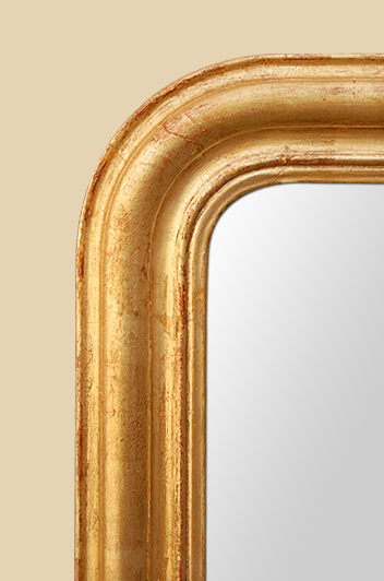petit miroir ancien bois dor style louis philippe. Black Bedroom Furniture Sets. Home Design Ideas