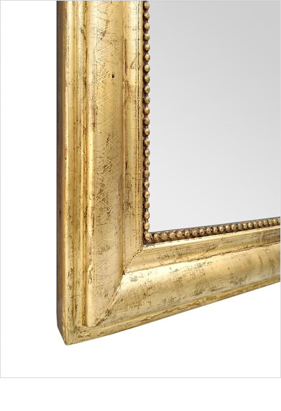 cadre miroir bois dore cheminee detail epoque 19eme