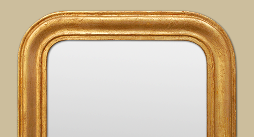 grand miroir haut bois dor patin style louis philippe. Black Bedroom Furniture Sets. Home Design Ideas