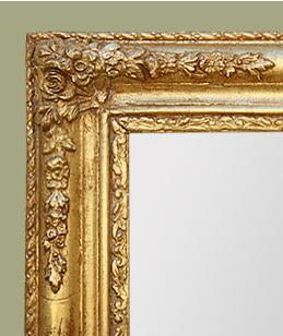 Grand miroir d\'époque romantique bois doré