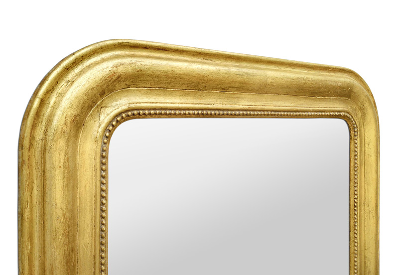 Cadre miroir Louis Philippe doré patiné circa 1880