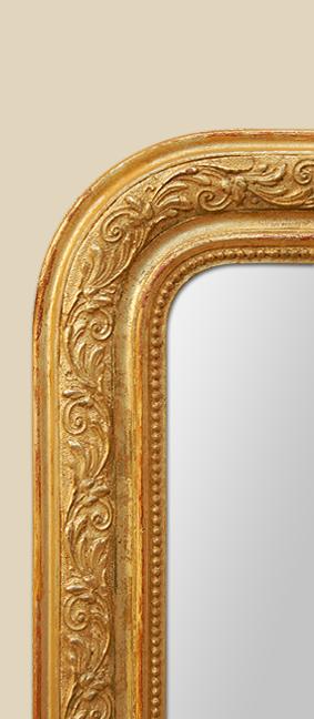glace miroir louis philippe dor la feuille. Black Bedroom Furniture Sets. Home Design Ideas