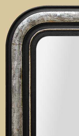glace miroir ancien louis philippe noir et argent 233 e 224 la feuille