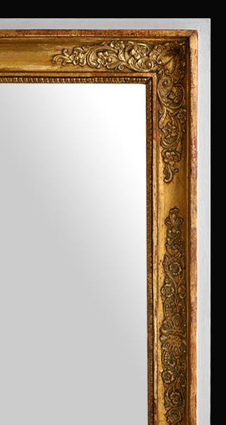 miroir ancien bois dor d 39 poque restauration. Black Bedroom Furniture Sets. Home Design Ideas