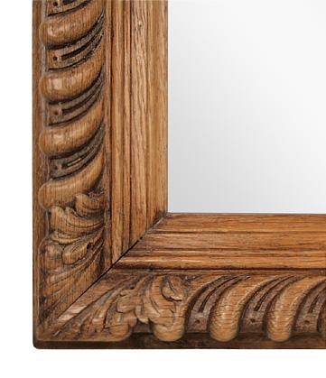 grand miroir ancien en bois sculpt style louis philippe. Black Bedroom Furniture Sets. Home Design Ideas
