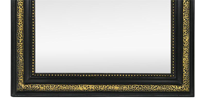 miroir ancien fronton d cor d 39 anges et fleurs style napoleon iii. Black Bedroom Furniture Sets. Home Design Ideas