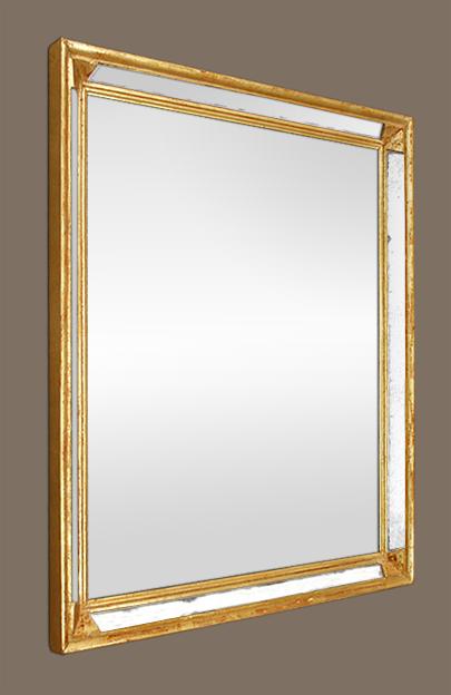 Miroir bois dor parecloses ann es 60 70 for Glace miroir moderne