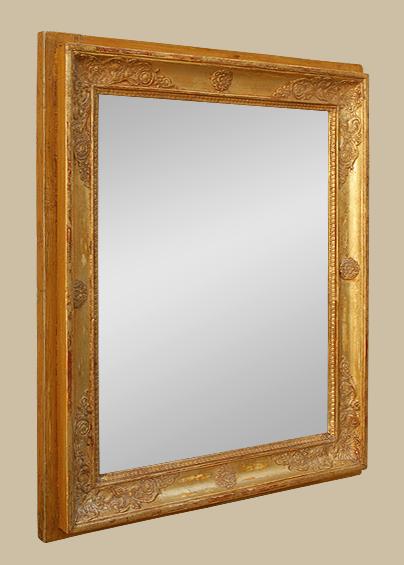 Miroir ancien poque restauration bois dor 19eme for Restauration miroir ancien