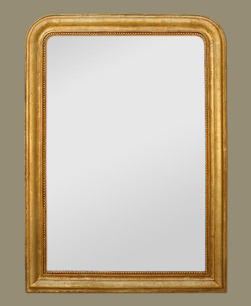 Glace miroir louis philippe glace chemin e d 39 poque for Glace miroir