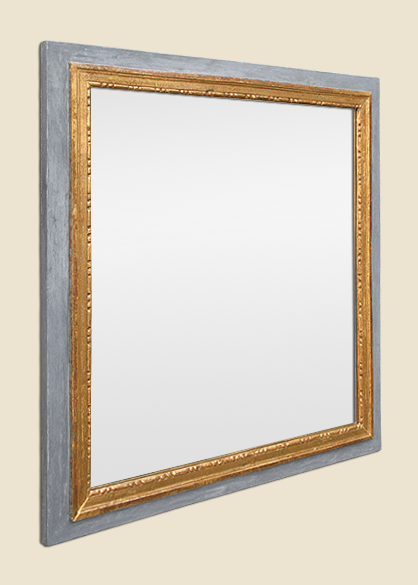 Miroir ancien epoque louis xvi bois sculpt dor sur boiserie peinte for Glace miroir moderne