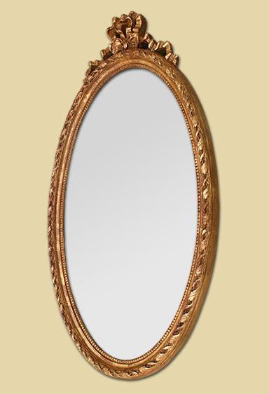 Glace miroir ovale ancien style louis xvi for Glace miroir