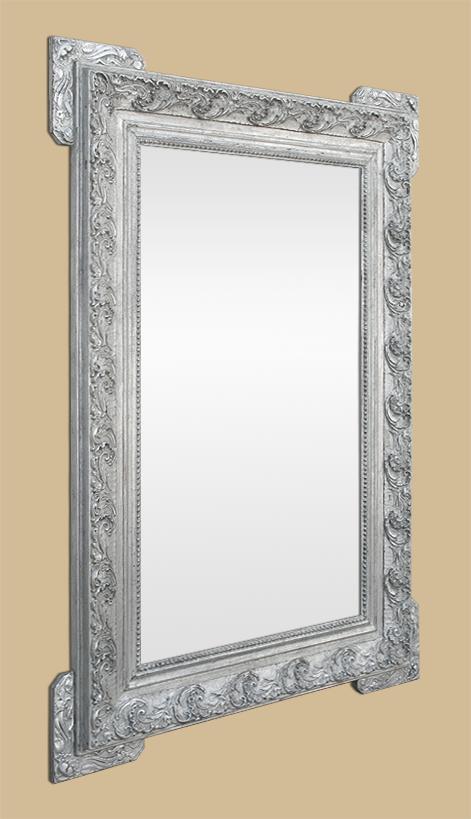 Miroir 1900 argent patin style art nouveau for Glace miroir moderne