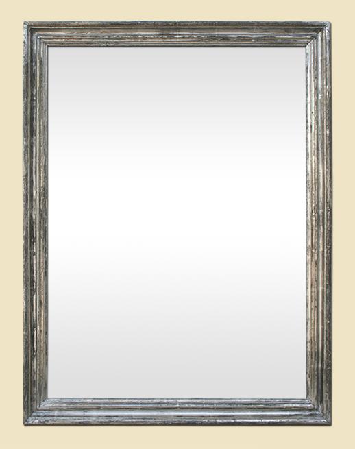 grand miroir ancien moulur dorure argent patin poque 19 me