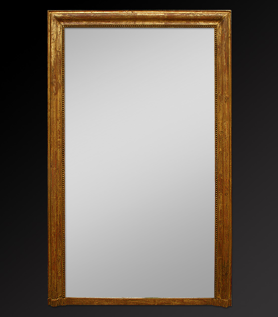 Grand miroir chemin e ancien for Miroir dore ancien