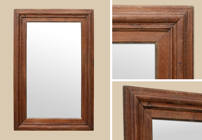 Tres grand miroir ancien maison design for Miroir long bois