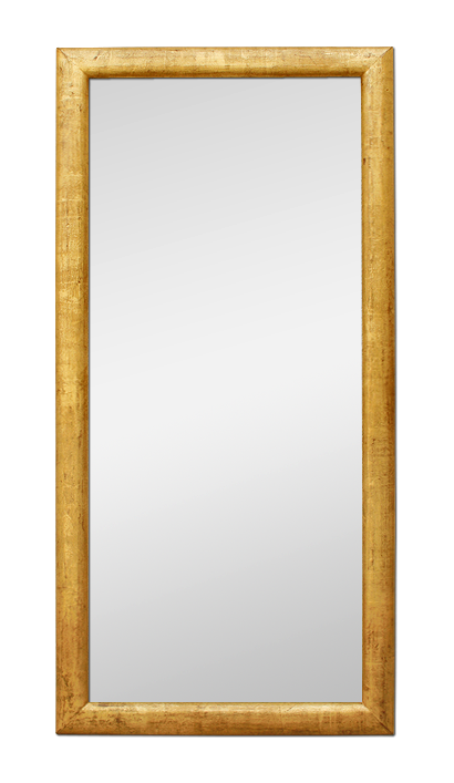 Grand miroir ancien bois dor patin moulure 1950 for Miroir dore rectangulaire