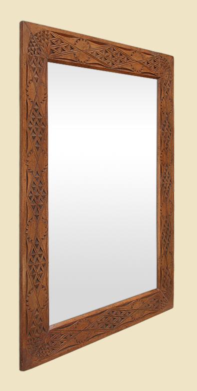 miroir ancien orientaliste bois sculpt exotique d but xx me. Black Bedroom Furniture Sets. Home Design Ideas