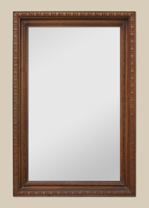 Grand miroir en bois sculpt teint for Grand miroir ancien
