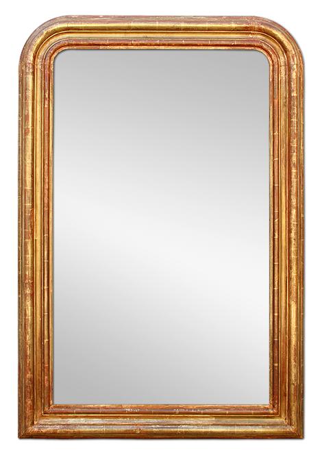 grand miroir ancien style louis philippe bois dor. Black Bedroom Furniture Sets. Home Design Ideas