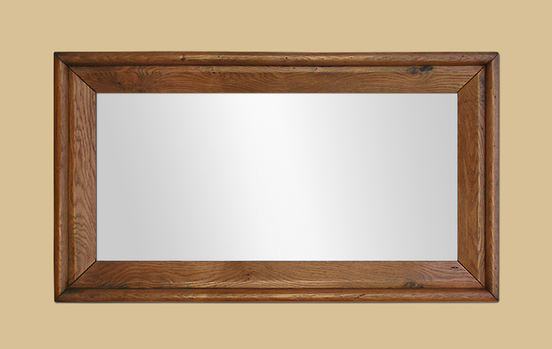 Grand miroir ancien en bois de ch ne blond ancien for Grand miroir salon