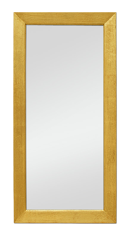 Glace miroir salon bois dor for Miroir dore rectangulaire