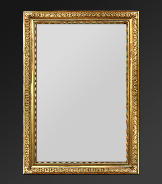 Grand miroir xix me dorure la feuille d 39 or for Grand miroir ancien