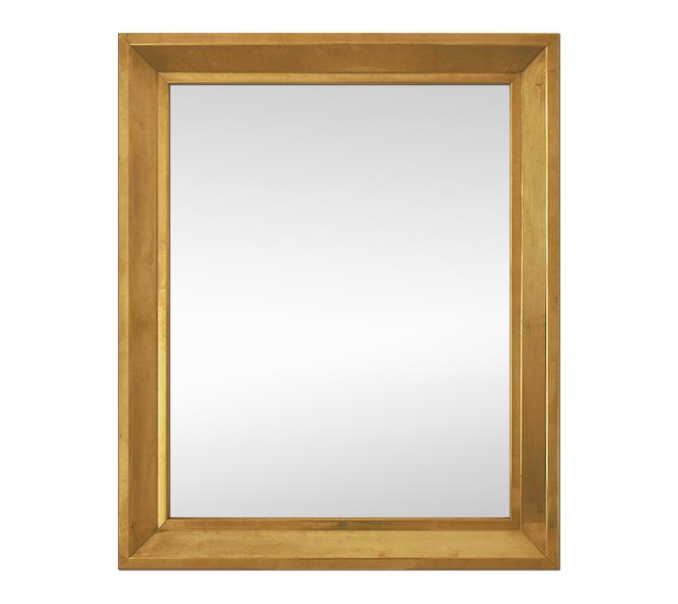 Grand miroir laiton ancien moulur for Miroir laiton