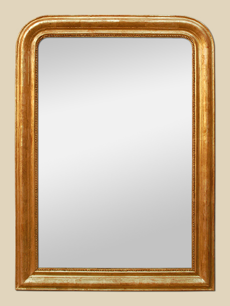 Grand miroir chemin e style louis philippe dor for Miroir cheminee ancien