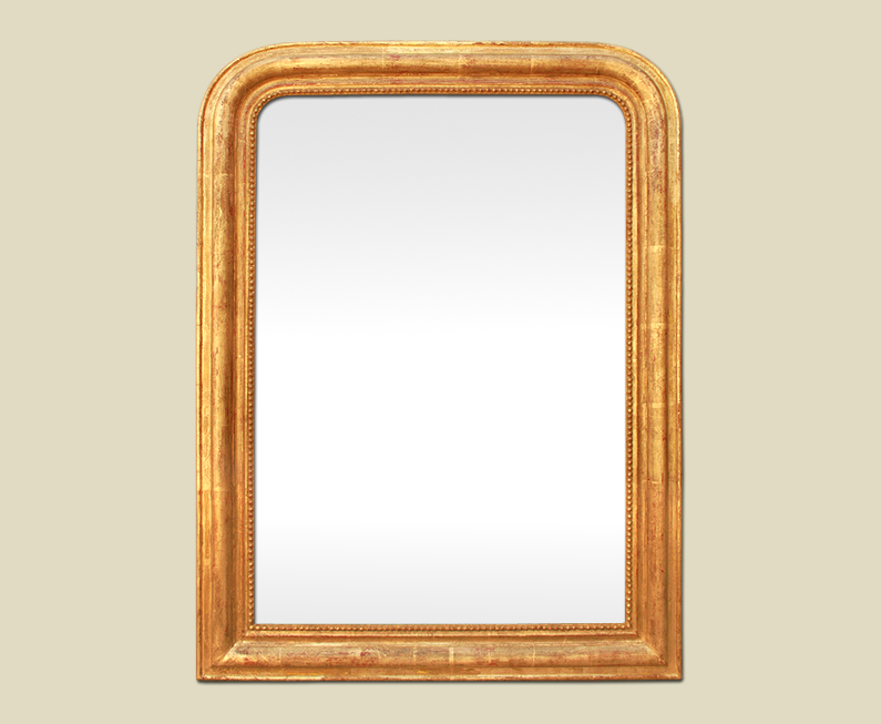 Grand miroir louis philippe dor ancien for Grand miroir dore