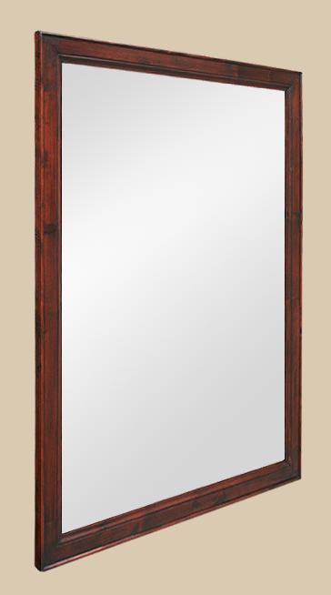 Grand miroir pitchpin teint acajou patin for Miroir acajou