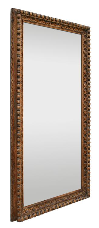 grand miroir salon en bois naturel ancien sculpt la main. Black Bedroom Furniture Sets. Home Design Ideas