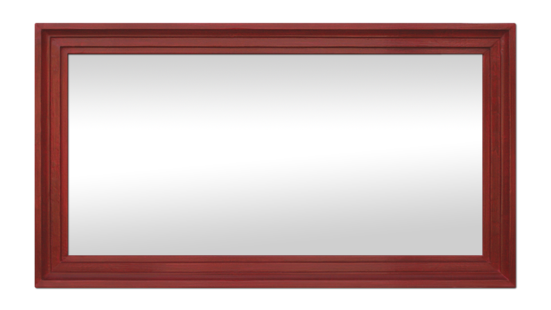 Grand miroir ancien bois peint rouge patin ann es 50 for Grand miroir salon