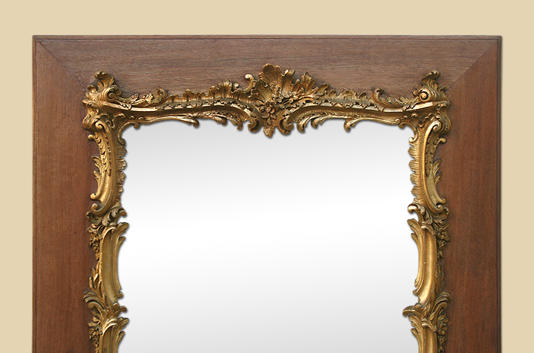 miroir louis xv rococo decors bois dor baroque. Black Bedroom Furniture Sets. Home Design Ideas