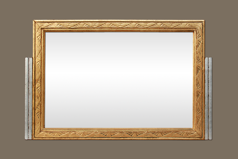 Miroir art nouveau 1900 dor et argent for Miroir art nouveau