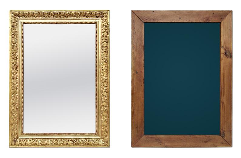 Miroir ancien bois doré circa 1890