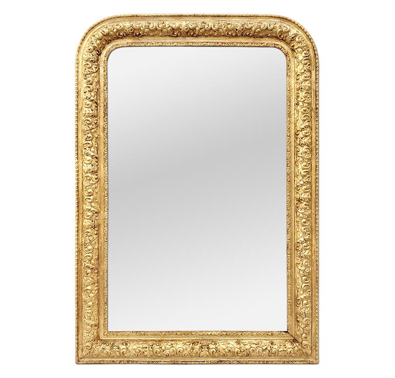 Miroir ancien bois doré style Louis-Philippe