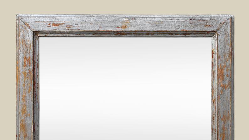 Miroir bois ancien argenté patiné vieilli -> Patine Sur Bois Ancien