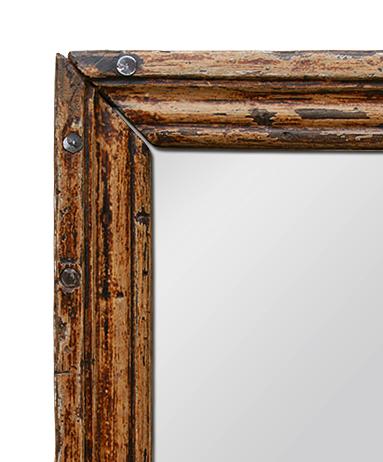 Miroir Ancien En Bois Patin D Origine Pareclose