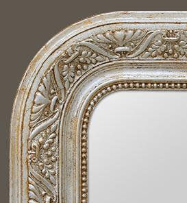 miroir louis philippe argent d cors art nouveau. Black Bedroom Furniture Sets. Home Design Ideas