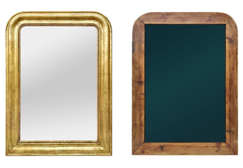 Miroir ancien doré époque Louis Philippe circa 1880