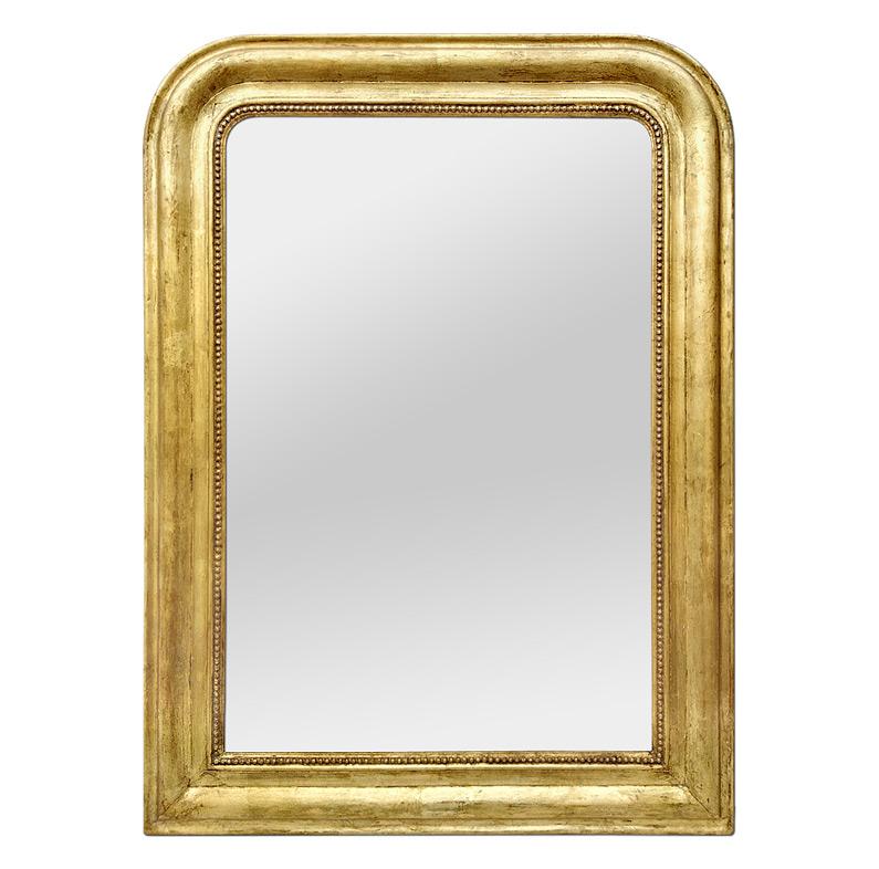 Miroir ancien doré Louis Philippe circa 1880