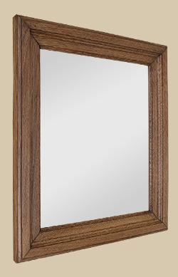 glace miroir ancien en bois ch ne clair moulur. Black Bedroom Furniture Sets. Home Design Ideas