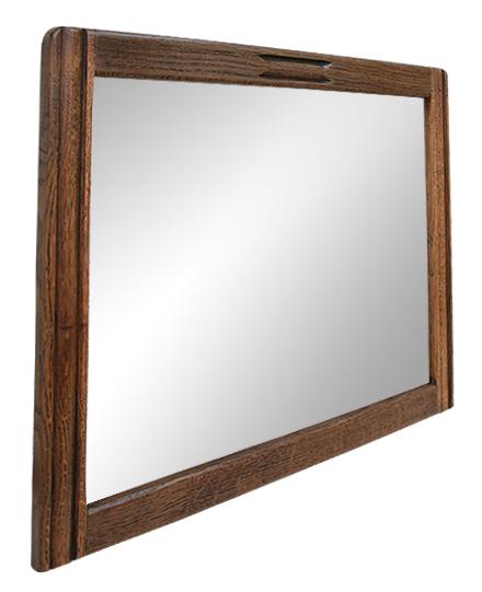 miroir bois de ch ne naturel des ann es 40. Black Bedroom Furniture Sets. Home Design Ideas