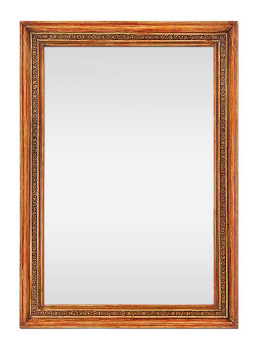 miroir ancien epoque restauration circa 1830 rouge patine. Black Bedroom Furniture Sets. Home Design Ideas
