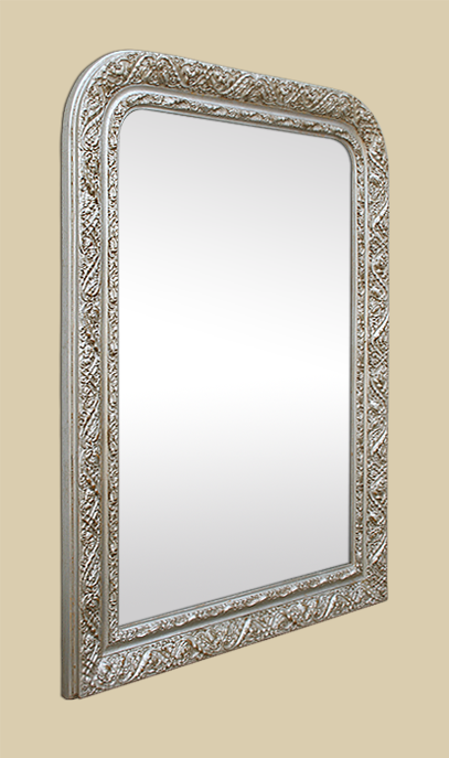 miroir ancien style louis philippe argent patin d cor 1900. Black Bedroom Furniture Sets. Home Design Ideas