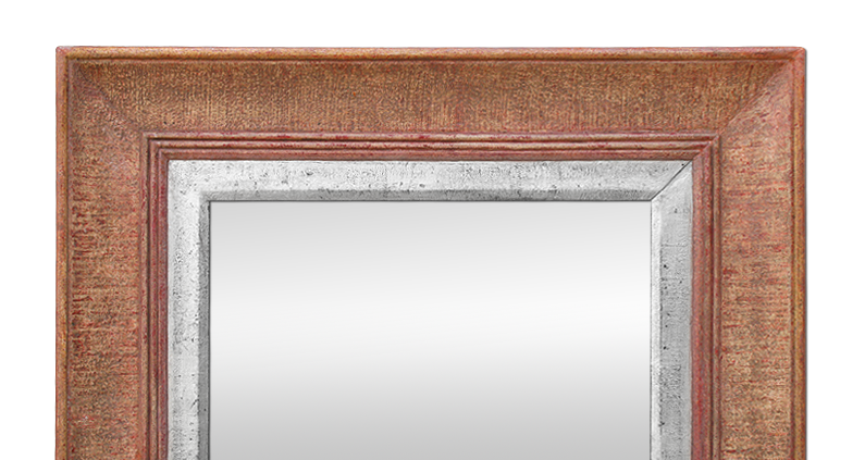 miroir ancien ann es 50 patine rose argent
